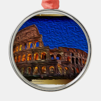 Colosseum in the night christmas ornament