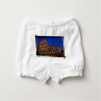 Colosseum in the night nappy cover
