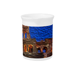 Colosseum in the night pitcher