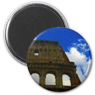 colosseum 6 cm round magnet