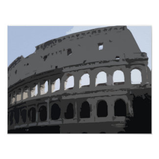 Colosseum pop art, comic book photo poster
