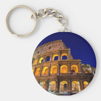 Colosseum Rome Basic Round Button Key Ring