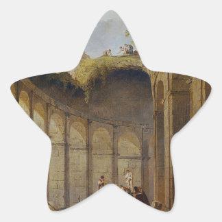 Colosseum, Rome by Hubert Robert Star Sticker