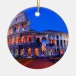 Colosseum Rome Christmas Ornaments