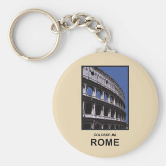 Colosseum Rome Italy Basic Round Button Key Ring
