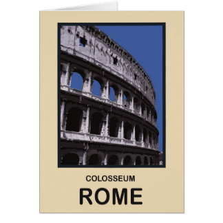 Colosseum Rome Italy Card