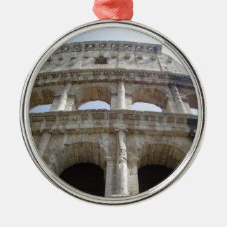 Colosseum Rome Silver-Colored Round Decoration