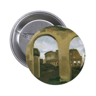 Colosseum Seen through the Arcades in Rome, Italy 6 Cm Round Badge