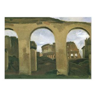 Colosseum Seen through the Arcades, Rome, Italy 13 Cm X 18 Cm Invitation Card
