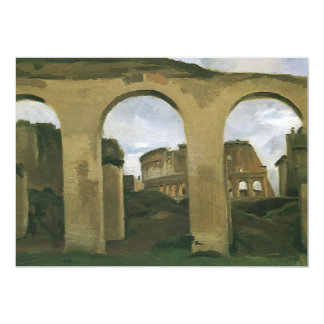"Colosseum Seen through the Arcades, Rome, Italy 5"" X 7"" Invitation Card"