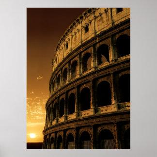 colosseum sunrise poster