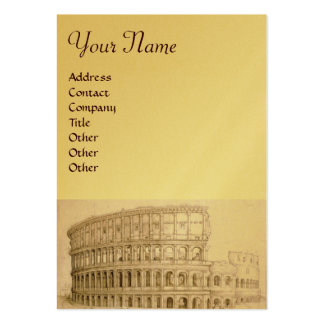 COLOSSEUM ,white brown,gold metallic paper Business Card