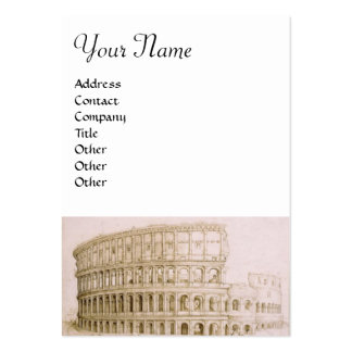 COLOSSEUM ,white brown Pack Of Chubby Business Cards