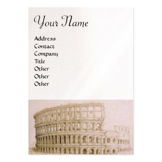 COLOSSEUM ,white brown, pearl paper Pack Of Chubby Business Cards