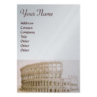 COLOSSEUM ,white brown,silver,platinum metallic Business Card