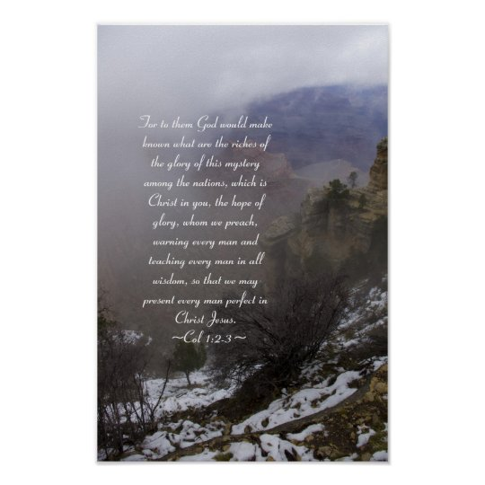 Colossians 1:2-3 Poster