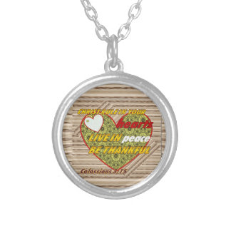 Colossians 3:15 Very nice Neckace Silver Plated Necklace