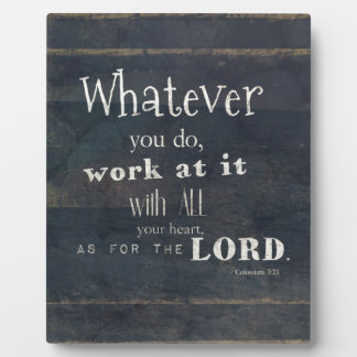 Colossians 3:23 Bible Verse, Scripture art Plaque