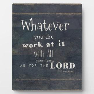 Colossians 3:23 Bible Verse, Scripture art Plaques