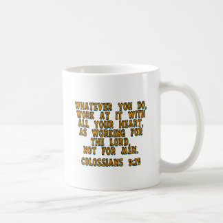 Colossians 3:23 mugs