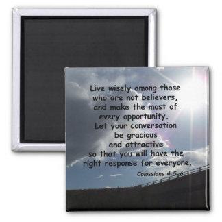 Colossians 4:5-6 square magnet