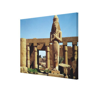 Colossus of Ramesses II: standing statue of Canvas Print
