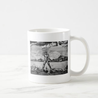 Colossus of Rhodes Black and White Mugs