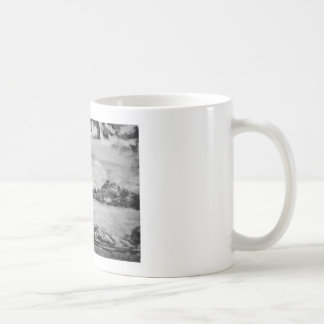 Colossus of Rhodes Black and White Coffee Mugs