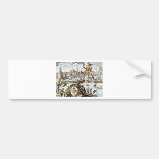Colossus of Rhodes by Maerten van Heemskerck Bumper Sticker