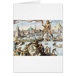 Colossus of Rhodes by Maerten van Heemskerck Greeting Card