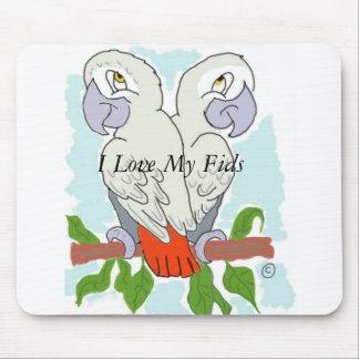 Colouful Parrots Mouse Mat