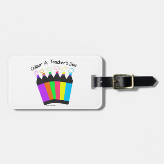 Colour a Teacher's Day Luggage Tag