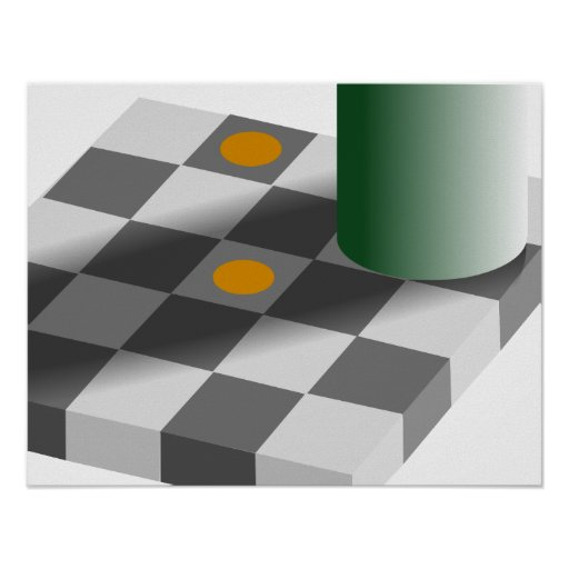 Colour and Brightness Constancy Optical Illusion Poster