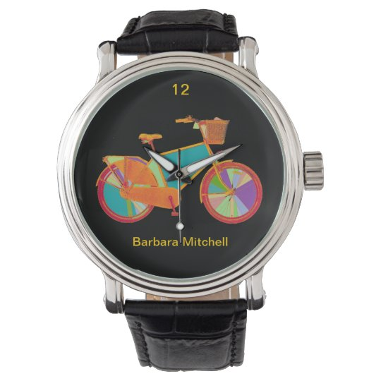 colour bike timepiece watch