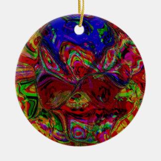 Colour Blast Round Ceramic Decoration