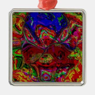 Colour Blast Silver-Colored Square Decoration