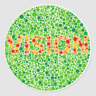 Colour Blindness Vision Round Sticker