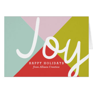 Colour Block Corporate Holiday Card