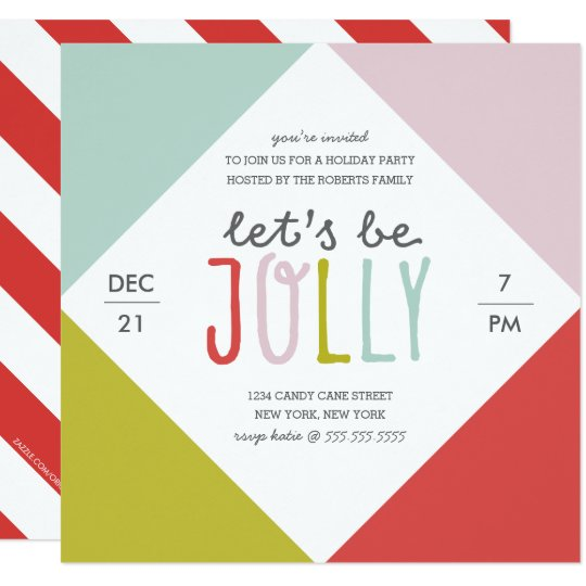 Colour Block Holiday Party Card
