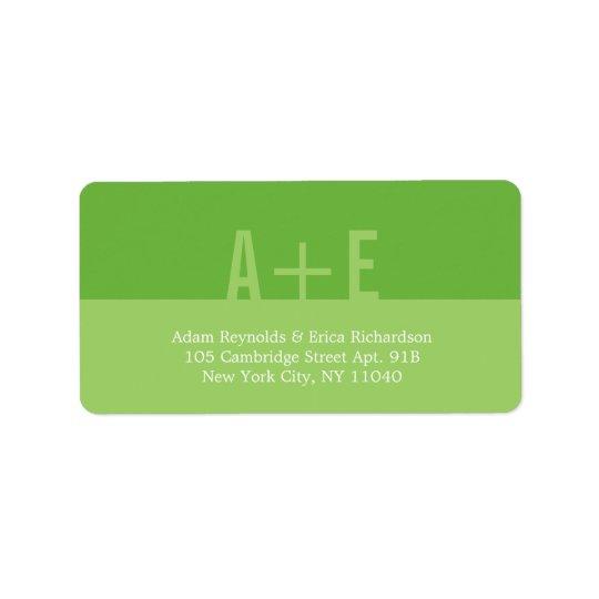 Colour Blocks Address Labels (Lime)
