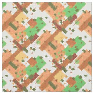 Colour Blocks Autumn Colours Fabric