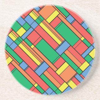 Colour blocks coaster