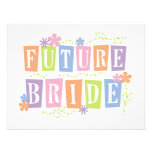 Colour Blocks Future Bride Tshirts and Gifts Personalised Announcements