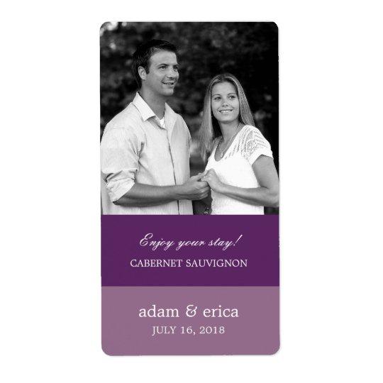 Colour Blocks Wedding Wine Labels (Purple)