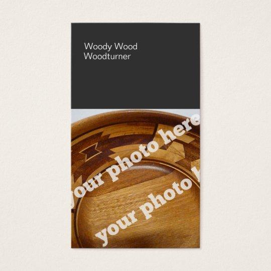 Colour Blocks Woodturning Custom Photo Business Card