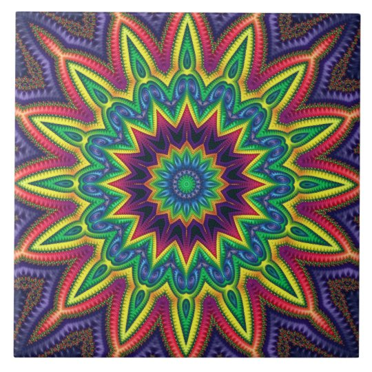 """Colour Burst"" 6""x6"" Ceramic Tile"