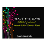 Colour Burst Flowers in Black Save the Date