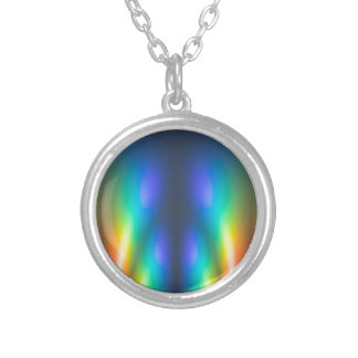 Colour burst silver plated necklace