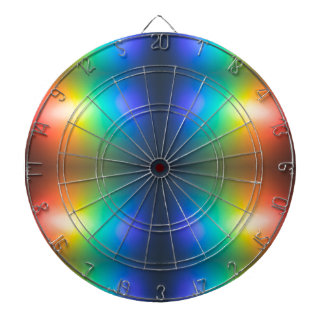 Colour Chaos abstract. Dartboard