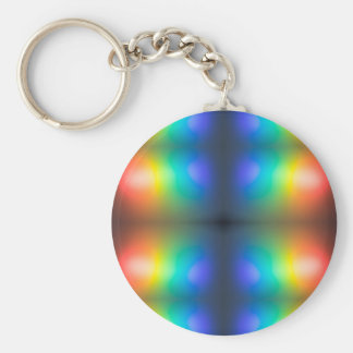 Colour Chaos abstract. Key Ring
